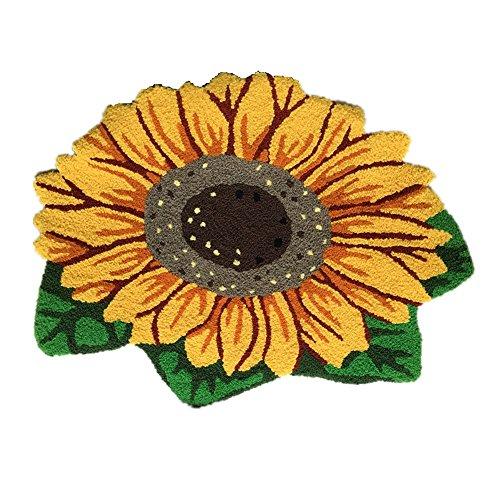 Ustide Sunflower Imprint Anti-slip Mat Cute Doormat Colorful Handmade Floor Mats Non-slip Carpets Rustic Style Carpet