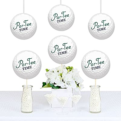 Par-Tee Time - Golf - Paper Decorations DIY Birthday or Retirement Party Essentials - Set of 20: Toys & Games