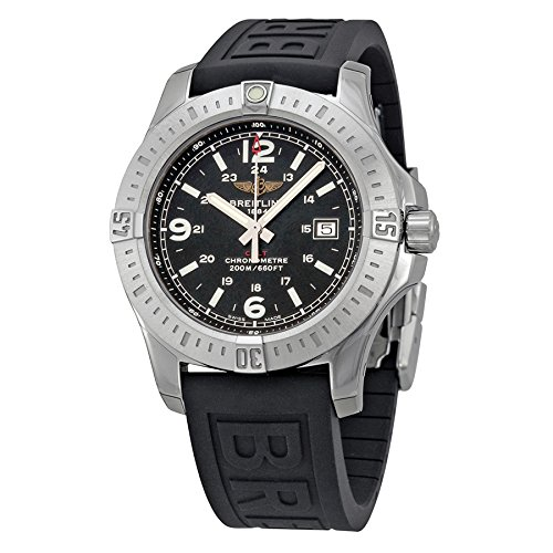 Breitling Colt Black Dial Rubber Strap Mens Watch A7438811-BD45BKPD3