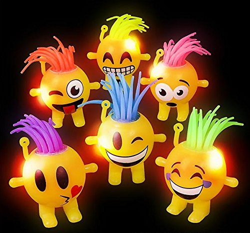 Emoji Light Up Doll Treat Bag Stuffer  6 Pack