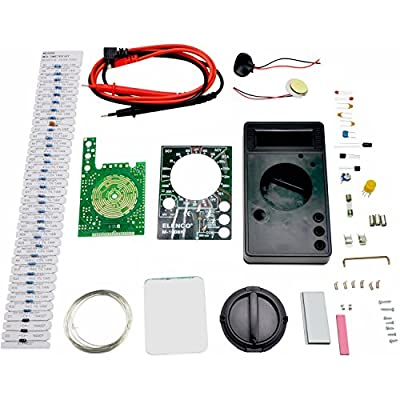 Elenco M-1008K - Digital Multimeter Solder Kit | Lead Free Solder | Great STEM Project | Soldering Required