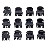 Great Value And Quality Set of 12pcs Durable Black Small Claw Butterfly Style Hair Styling Clips Clasps Clamps
