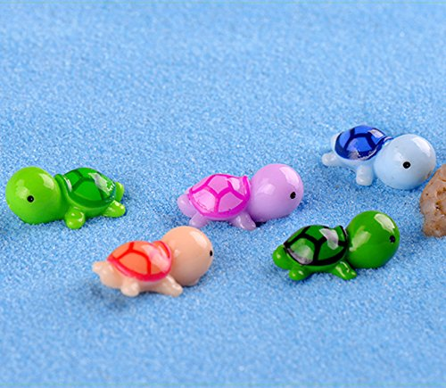 Smilesky Sea Turtle Figure Animal Tortoise DIY Toys Home Garden Office Fish Tank Decorations Random Color 0.9