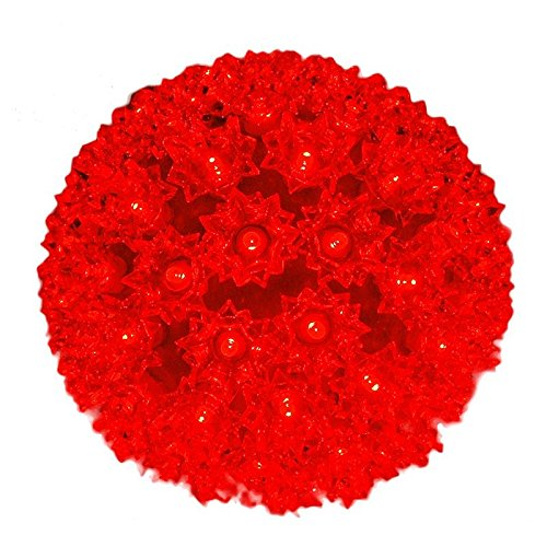 Novelty Lights 100 Light Outdoor Christmas LED Starlight Sphere, Red, 7.5