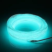 MASUNN 20M EL geleide flexibele zachte slang draad neonglühen-auto touw strip licht kerstdecor Dc 12V lichtblauw