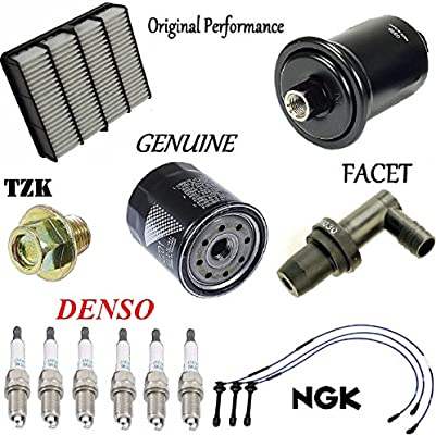 amazon com: tune up kit air oil fuel filters plugs wire for toyota tacoma  3 4l 1995-2004: automotive