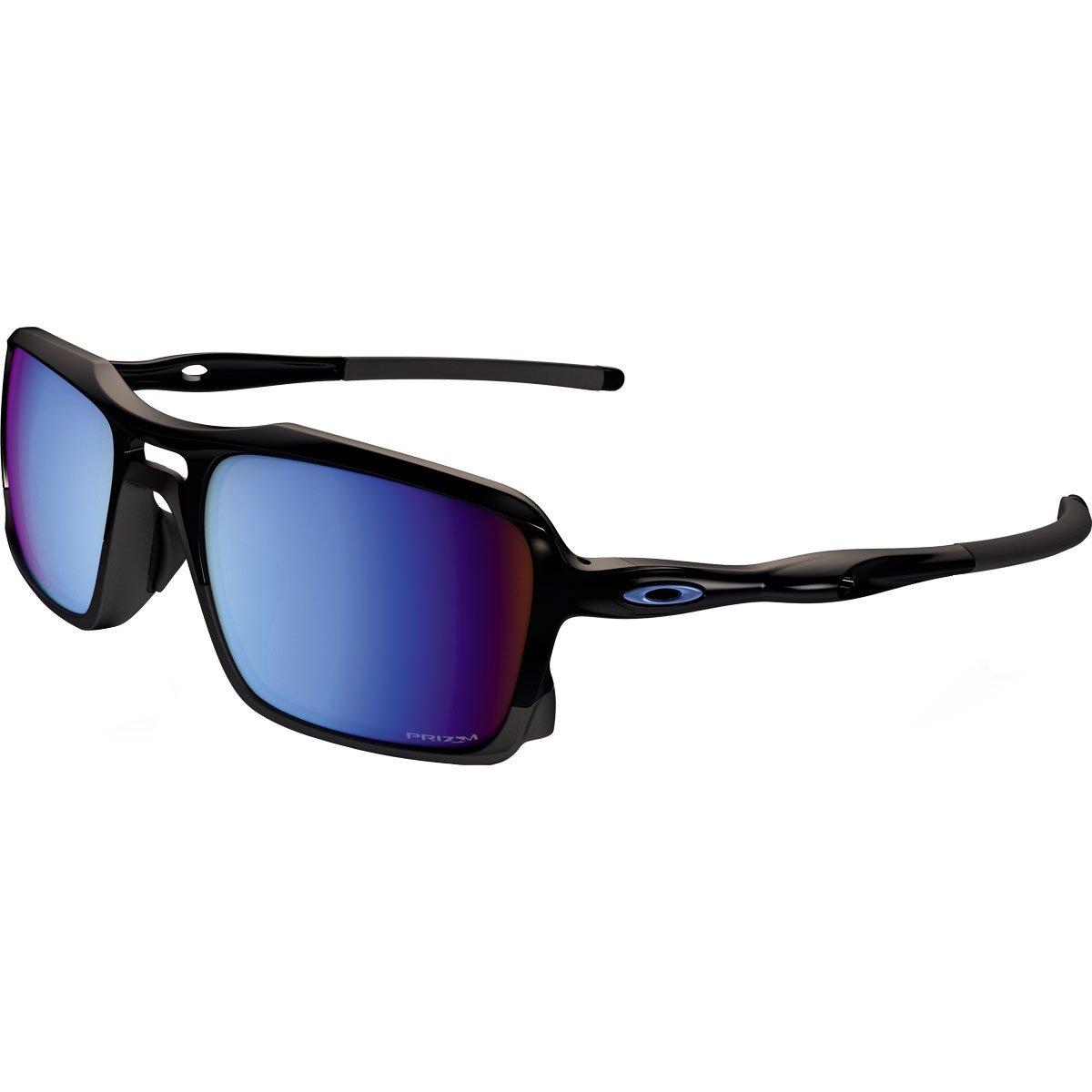 Oakley Mens Triggerman Polarized Sunglasses, Polished Black/Prizm Deep Water, One Size