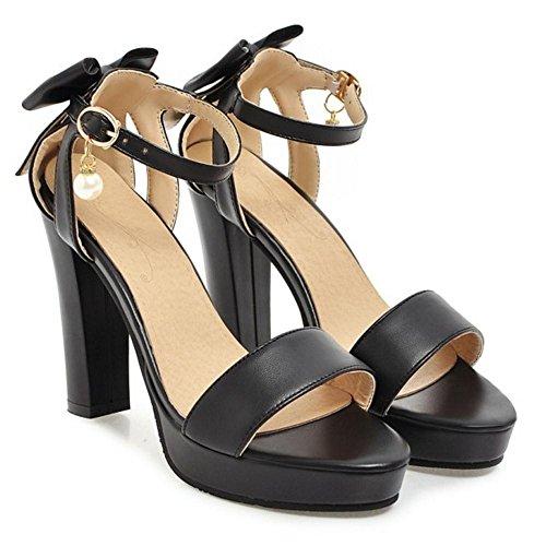 Coolcept Lazo Moda Mujer Sandalias Black Heels raZrOw