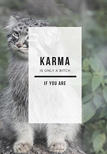 Karma: It's only a bitch if you are.: Lined Notebook/Journal. 7x10 inches. PDF