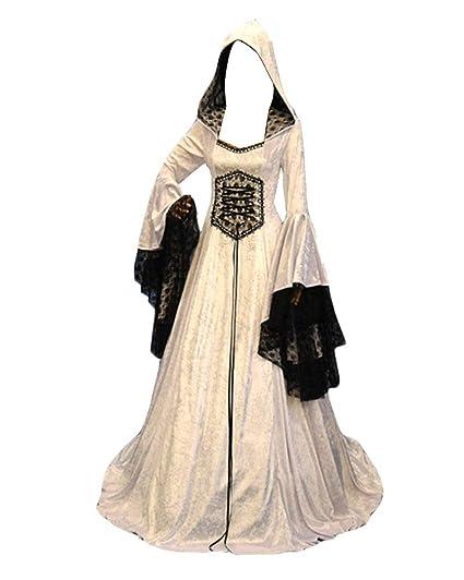 GladiolusA Vestido Largo De Renacimiento Medieval para Mujer ...