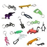 Swatom Cartoon Animal Aluminum Bottle Opener Keychain Small Beer Openers Key Ring Pocket Accessories(Random Pattern)
