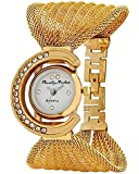 Aaradhya Fashion Analogue White Dial Women's Watch -A9F-Julla-Gold0307