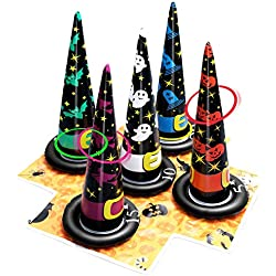Unomor Inflatable Witch Hat Ring Toss Game Halloween Games for Kids(Air Pump Included)