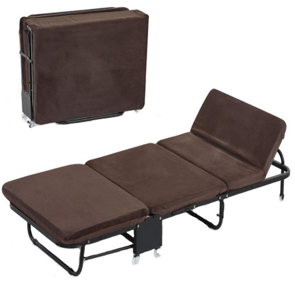 Faltbare Relaxer Chair Rollaway Guest Bed-Easy Storage Komfortable 2,5-Zoll-Memory-Foam-Matratze, Office Lounger Bed-Erwachsene Kids Camping Reisen nach Hause Faulenzen Schlafen