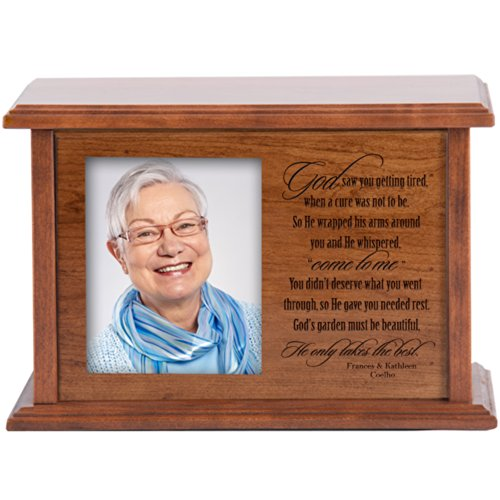 Personalized Cremation Urn for Humans Holds 4x6 Photo Verse