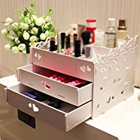 VERCART Lace Cosmetic Storage Box Waterproof Storage Rack Desktop Dresser Drawer Jewelry Rack Finishing Creative Home Decor