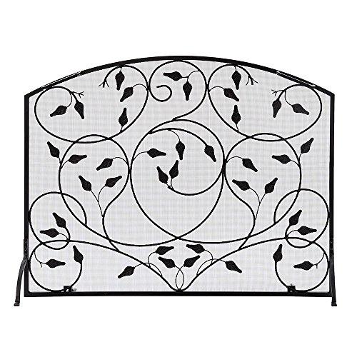 leaf design fireplace screens - 5