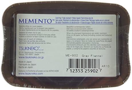 braun 9.6 x 6.6 x 1.8 cm Synthetic Material Tsukineko Memento Stempelkissen Toffee Crunch