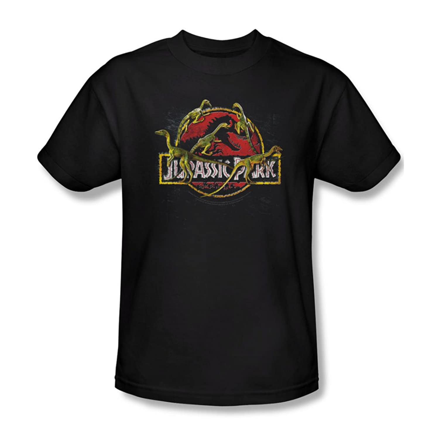 Jurassic Park - Mens Something Has Survived T-Shirt In Black