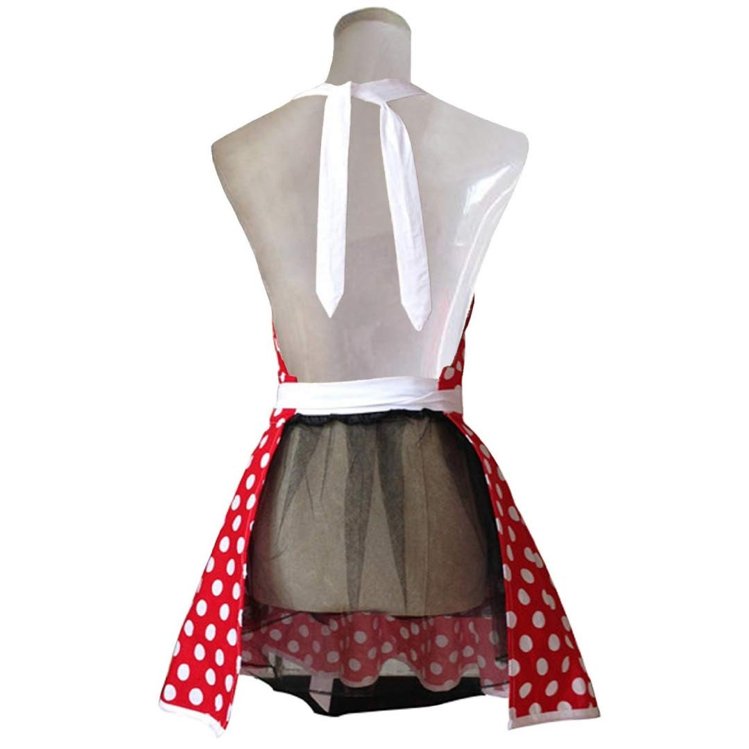 Home & Garden Lovely Retro Kitchen Aprons Woman Girl Cotton Lattice Cooking Apron Dress Latest Technology