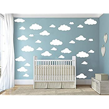 31 Pcs Mix Size 4 10 Inch Clouds Wall Decal Sticker For Kids Bedroom Decor