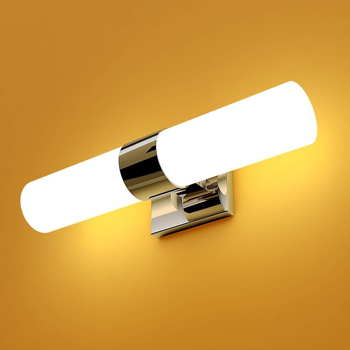 Tangkula 16.5 Bath Light 2-Led Polished Chrome Vanity Fixture Bathroom Lighting Lamp Wall Sconces