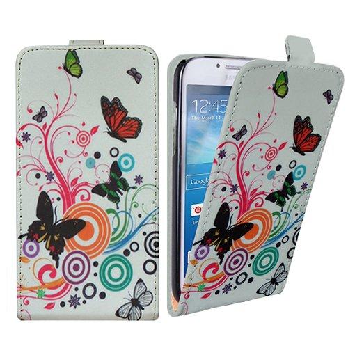 Xtra-Funky Exclusivo Cuero estilo del tirón cubierta de la caja de la carpeta con Hermosa medusas elegante y Flor diseños florales para Samsung Galaxy S5 (i9600) - Diseño B9 B11