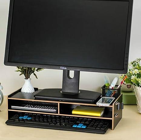 CRAVOG escritorio soporte de monitor LCD TV ordenador portátil elevador de protector de pantalla estante estantería: Amazon.es: Electrónica