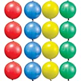 Amscan Fun-Filled Assorted Colors Punch Balloons (14 Piece), Multicolor, 8""