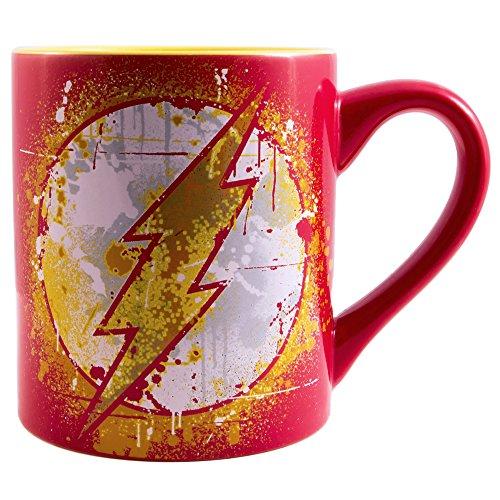 Silver Buffalo FL110532 DC Comics Flash Splatter Paint Logo Ceramic...