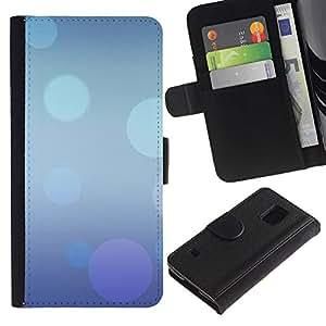 Be Good Phone Accessory // Caso del tirón Billetera de Cuero Titular de la tarjeta Carcasa Funda de Protección para Samsung Galaxy S5 V SM-G900 // Abstract Blue Purple Bubbles Pastel