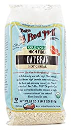 Bob\'s Red Mill Organic Oat Bran Hot Cereal, 18 Ounce Bag