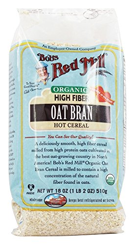 Bob's Red Mill Organic Oat Bran Hot Cereal, 18 Ounce Bag