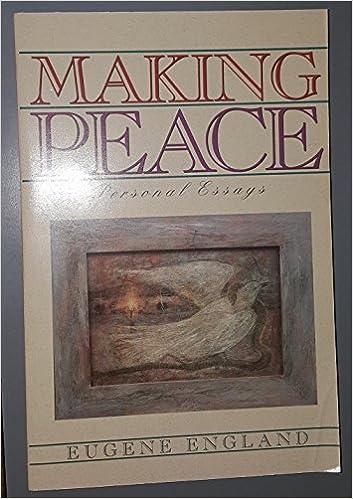 Making peace essay