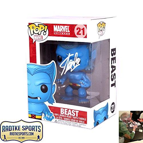 Stan Lee Autographed/Signed Funko Pop! Marvel X-Men Beast #21 In-Box Action Figure