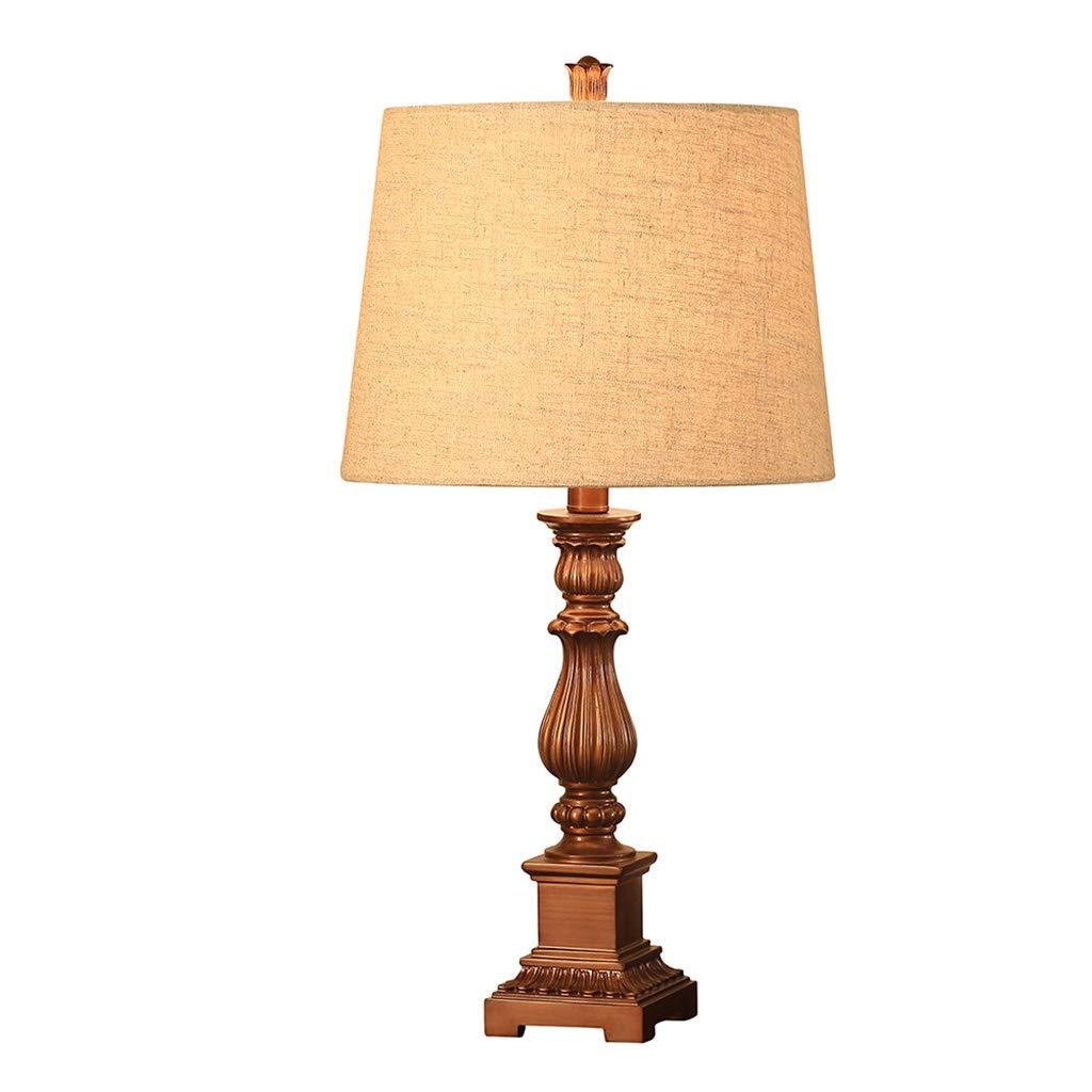 Wang Lining Tischlampe Nachttischlampe Leinen Lampenschirm Lampe Körper Schreibtischlampe Modern Simple Design Licht Für Schlafzimmer Wohnzimmer (ohne Glühbirne) (Farbe   A)