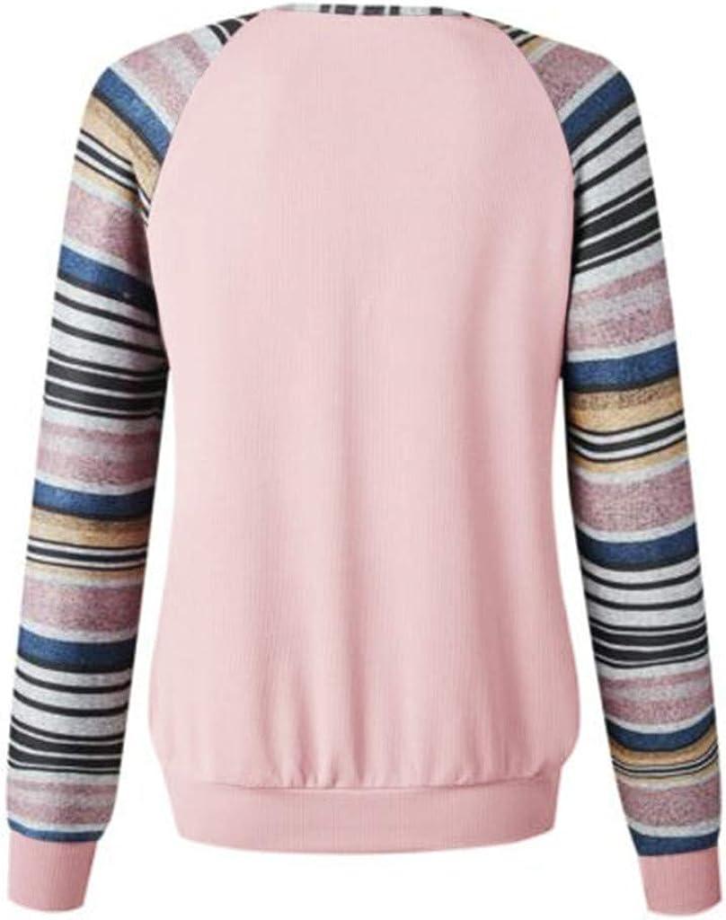 Pullover Tops for Women,Frunalte Fashion Fall Long Sleeve Stitching Zipper V Neck Sweatshirt Casual Tops Blouse
