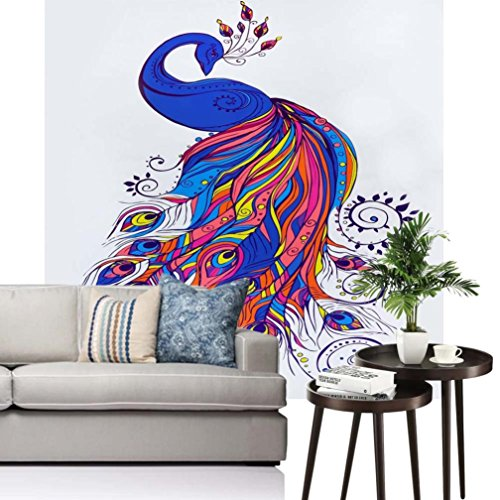 Vibola Peacock Wall Hanging Tapestry Bikini Cover Up Wall Bedspread Beach Towel Mat Blanket Table 150 150cm/59''