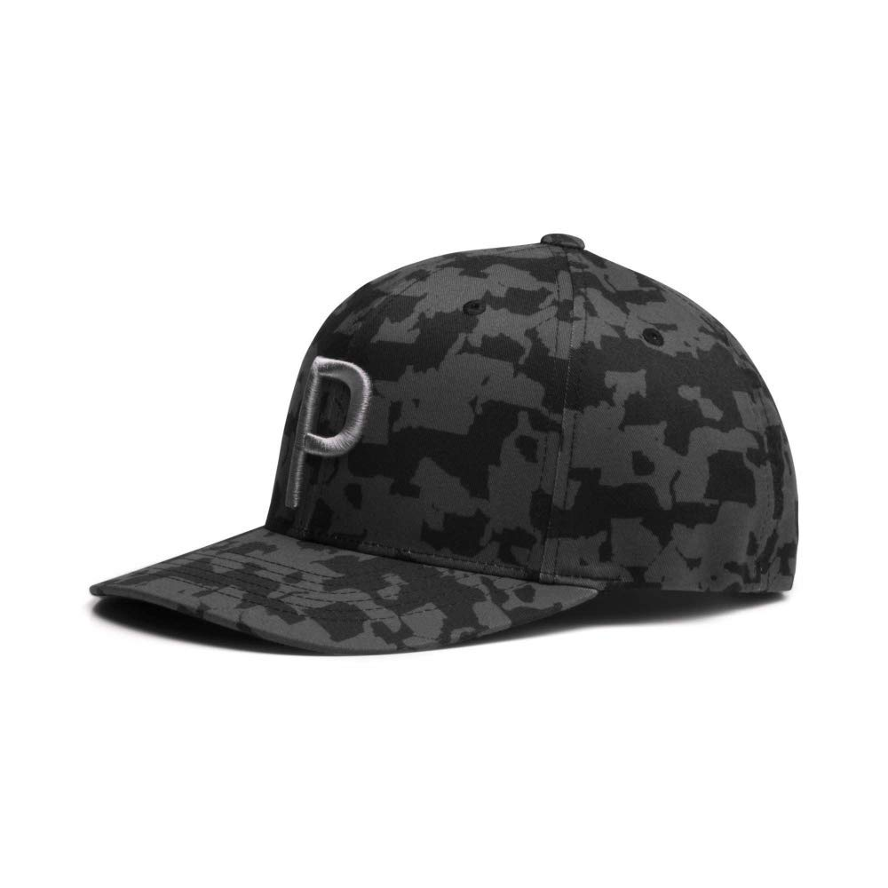 Puma Golf 2018 ''P'' Snapback Hat (One Size), Black-Camo by PUMA (Image #1)