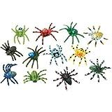 U.S. Toy Multi-Color Mini Plastic Spiders (SKU 1192) - 12 Pack