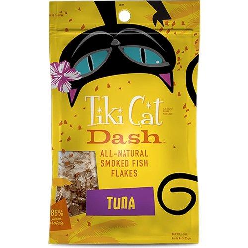 Tiki Cat Dash Smoked Fish Flakes Food Topper Tuna 2 oz Pouch