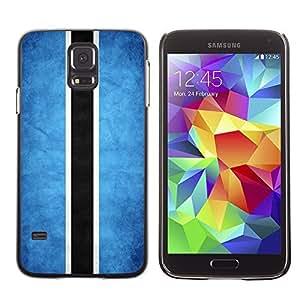 YOYO Slim PC / Aluminium Case Cover Armor Shell Portection //Botswana Grunge Flag //Samsung Galaxy S5