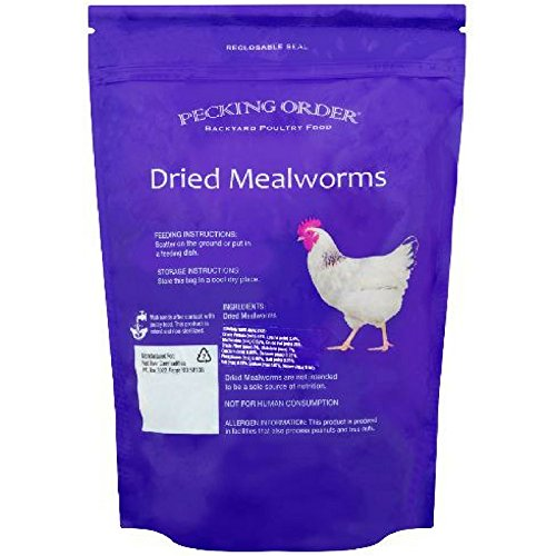 Pecking Order Dried Mealworms Backyard Poultry Food, 10 oz (Pack of 3)