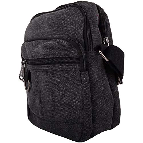 Mens Small Work Travel Canvas Black Womens Messenger Holiday Shoulder Bag YxSdEqpn