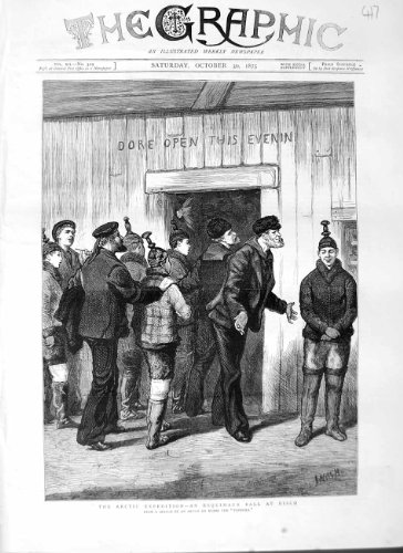 Print 1875 Arctic Expedition Esquimaux Ball Disco Men - Arctic Disco