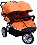 Tike Tech Double City X3 Swivel Stroller, Autumn Orange