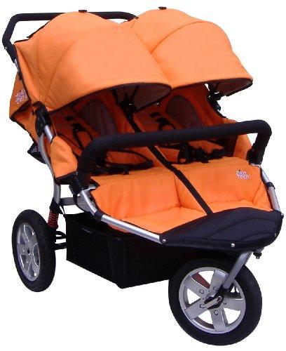 Tike Tech Double City X3 Swivel Stroller, Autumn Orange by Tike Tech