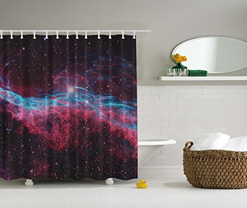 Bathroom Ambesonne Astronomy Polyester Turquoise