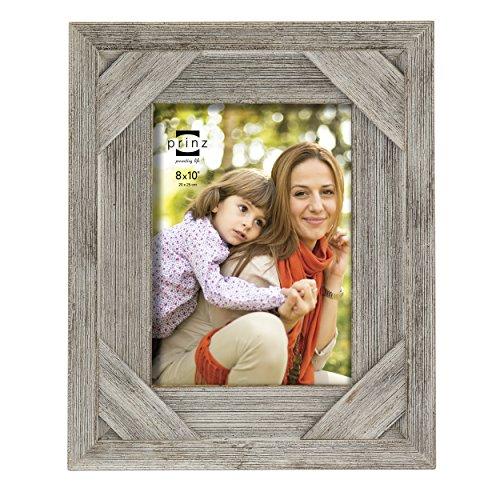 Prinz Barnes Antique Distressed Barnwood Frame, 8 by 10-Inch
