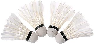 Lunji Volant Badminton LED Durable pour Intérieur et Extérieur - 4 Pièces